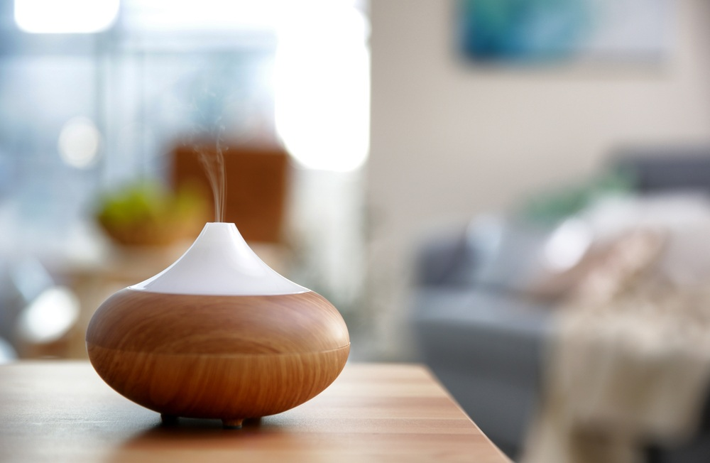 Electric Oil Diffuser On Blurred Room