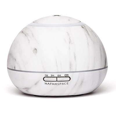 Hathaspace Marble Essential Oil Aroma Diffuser, 350ml