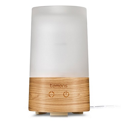 Tomons Essential Oil Aroma Diffuser in Glass and Natural Wood